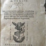 EPISTOLAE FAMILIARES, Cicero, Lyon, 1545