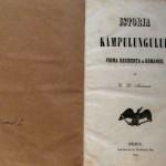 ISTORIA CAMPULUNGULUI, PRIMA REZIDENTA A ROMANIEI, Bucuresti, 1853